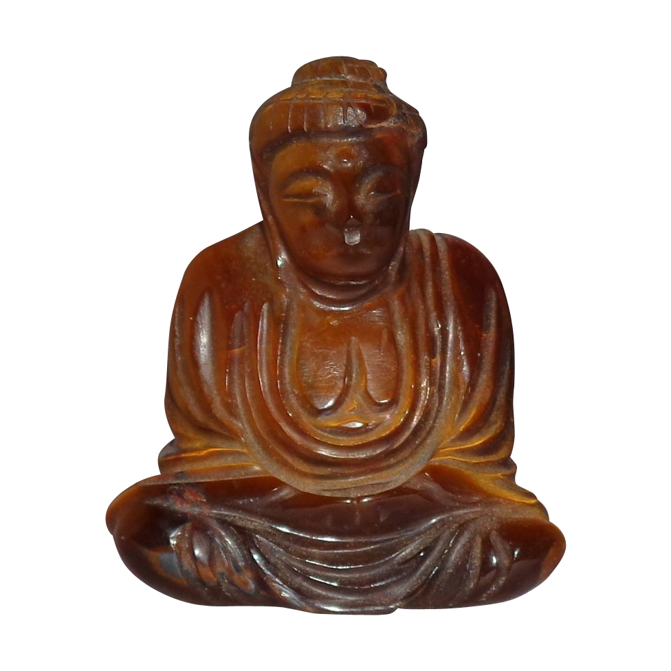 Tiger's Eye Well-Carved Carved Buddha - Serene And Ethereal