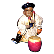 Chinese Boy Playing Drum - Two Pieces - Happy and Lively!