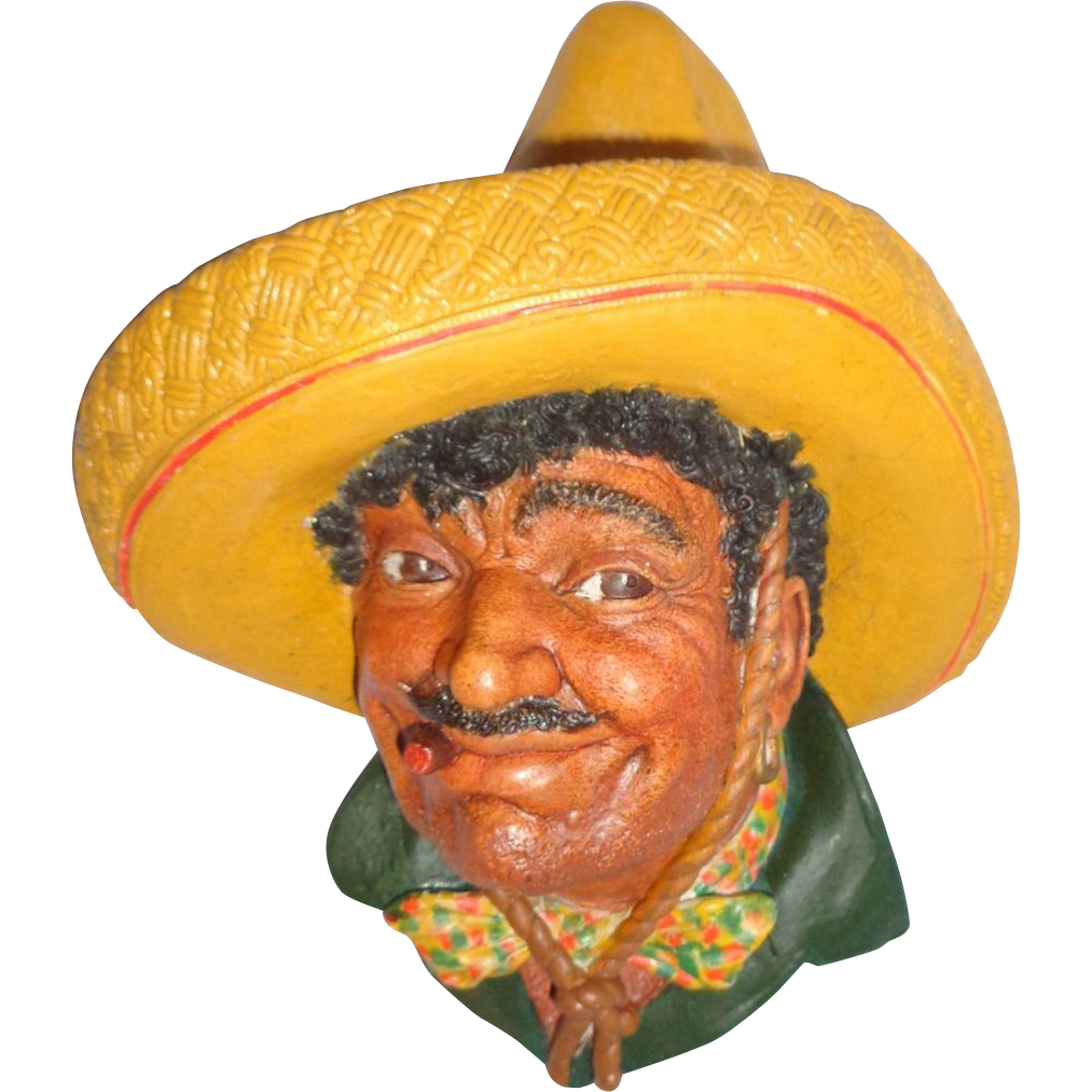 "Bossons Wall Plaque - ""Pancho"" - Circa 1960s - England"