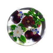 RARE Antique Baccarat Four-Flower Bouquet Paperweight