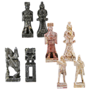 Chinese Carved Soapstone Chess Set