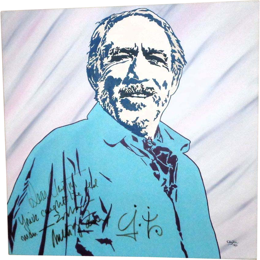 ANTHONY QUINN - Large Portrait by Clayton LeFevre - Signed by BOTH!
