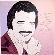 ROBERT GOULET Portrait By Clayton LeFevre - Signed By BOTH Robert Goulet And LeFevre