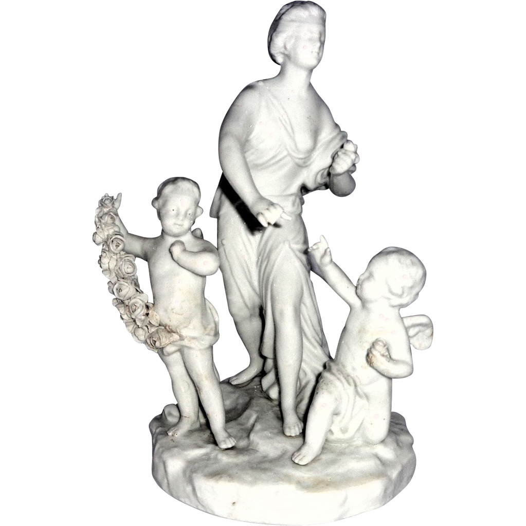 Blanc de Chine Multi-Figural Grouping - With Lady Justice (Blindfolded) With Cherubs