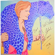 Gunther Gebel-Williams - Signed Portrait Of Gebel-Williams With Leopard - Signed By Artist Lefevre too!