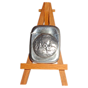 """Antique Sterling Silver Match Safe (Vesta) Inscribed """"Military Athletic League"""" Within Shield"""