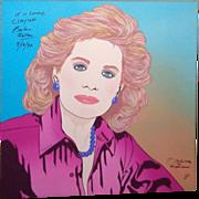 BARBARA WALTERS - Signed Clayton Lefevre Portrait