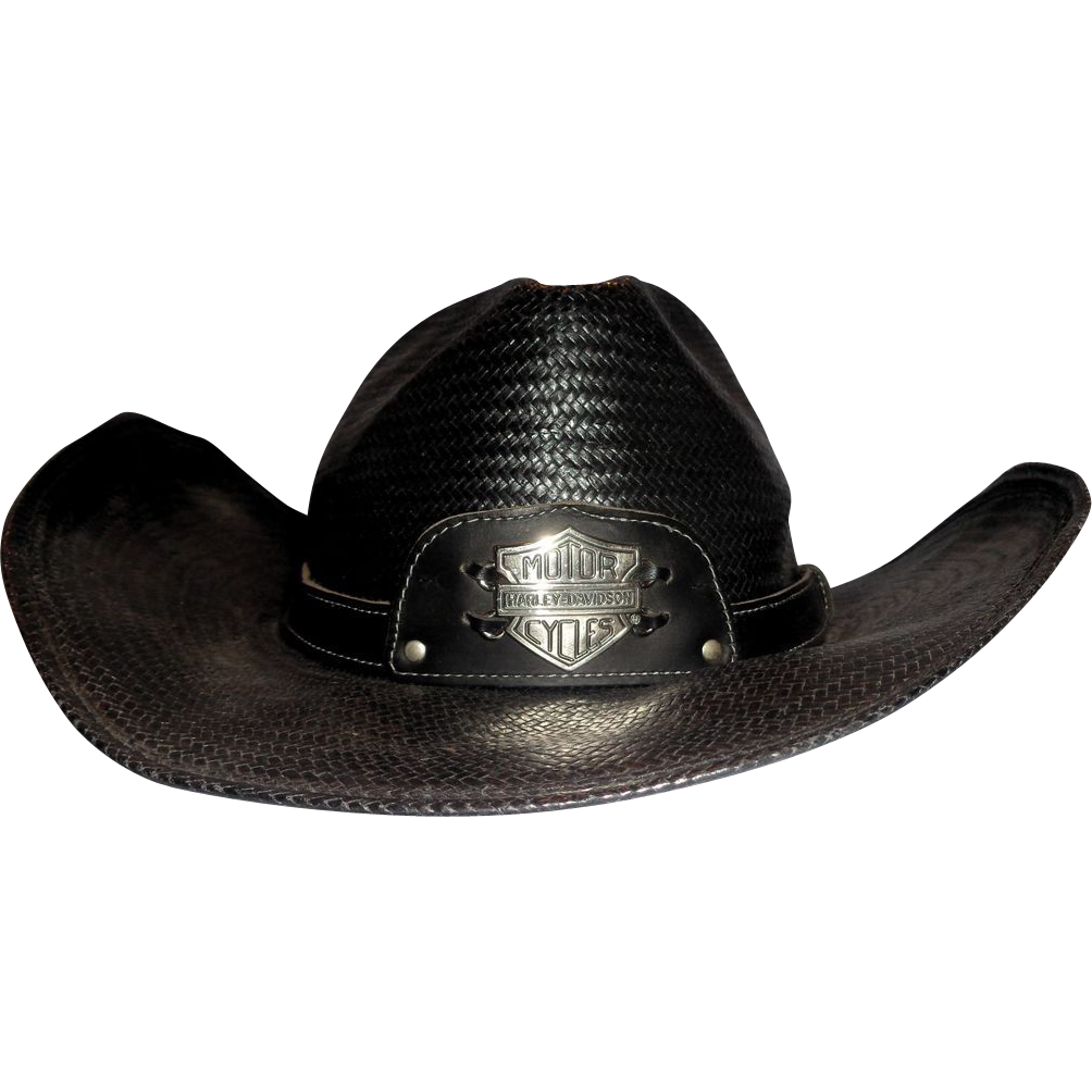 Larry Hagman's Harley Davidson Cowboy Hat, Signed by Larry Hagman