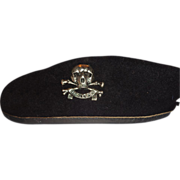Larry Hagman's Bancroft (Military Cap) Beret With Skull Pin