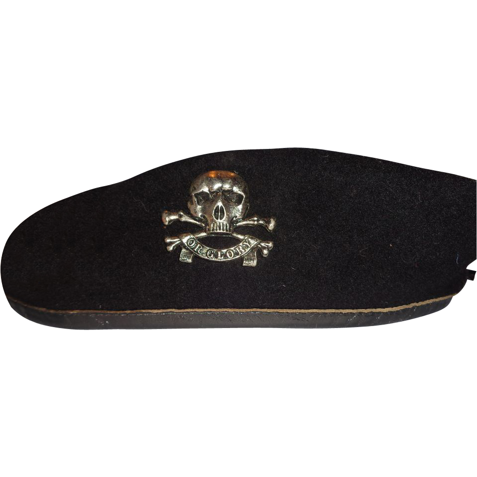 Larry Hagman S Bancroft Military Cap Beret With Skull Pin From Barkusfarm On Ruby Lane