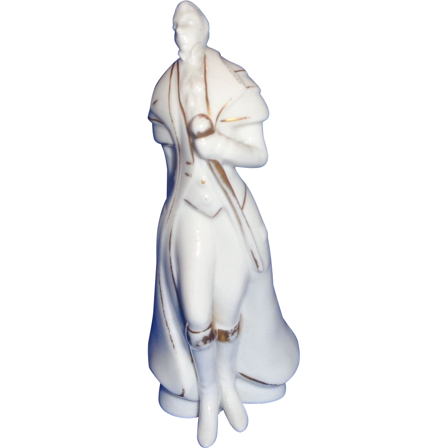 Blanc De Chine Porcelain Of A Finely Dressed Gallant