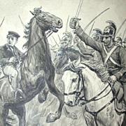 Poul Steffensen (1866-1923) - Original Pencil, Pen and Watercolor Drawing on Paper, Circa 1911