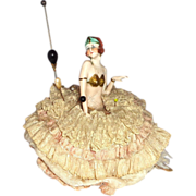 Art Deco Half Doll Pin Cushion With Legs