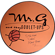 Robert Goulet Personally Signed Bandstand Sign Used On The Set of ESPN's NCAA Basketball TV Commercials
