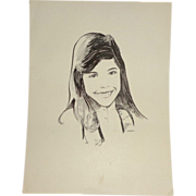 "Original Drawing ""Pure Beauty"" By Carlton  (20th Century American)"