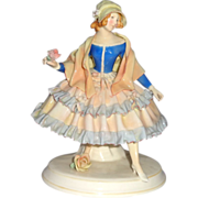 Art Deco Karl Ens Porcelain, Germany, Beautiful Fraulein