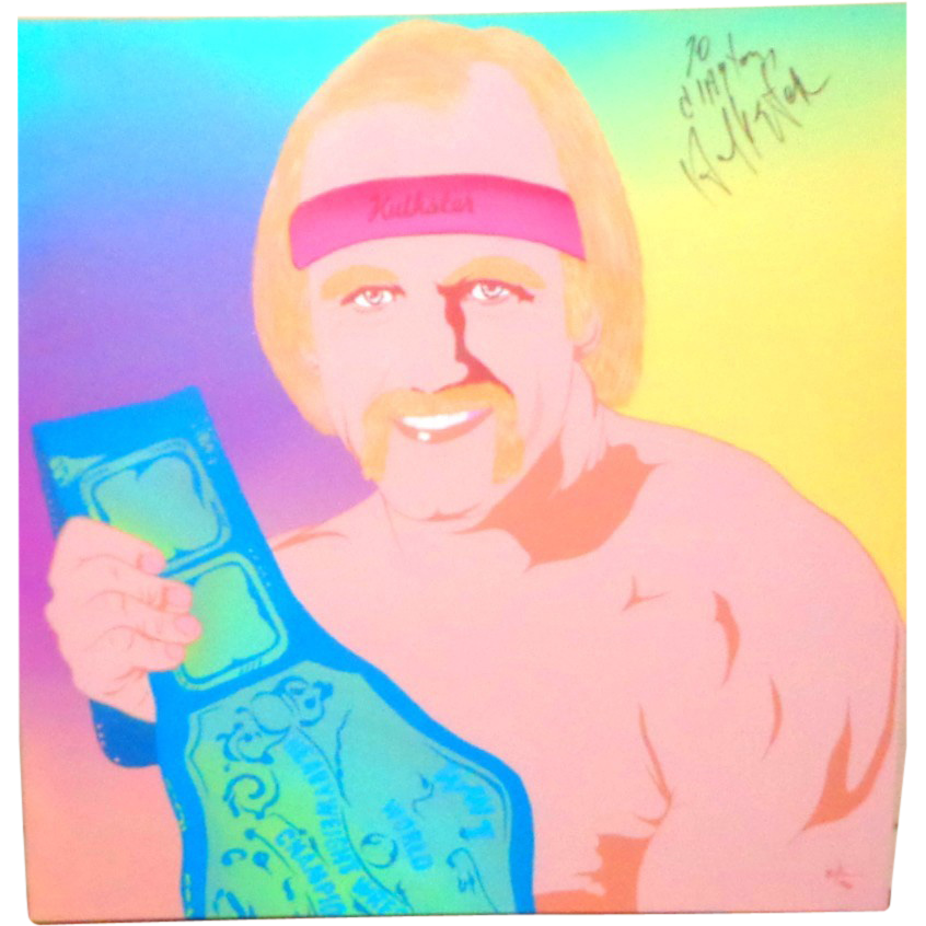 Hulk Hogan Personally Signed Portrait By Clayton LeFevre (Part Of The 100 Club)