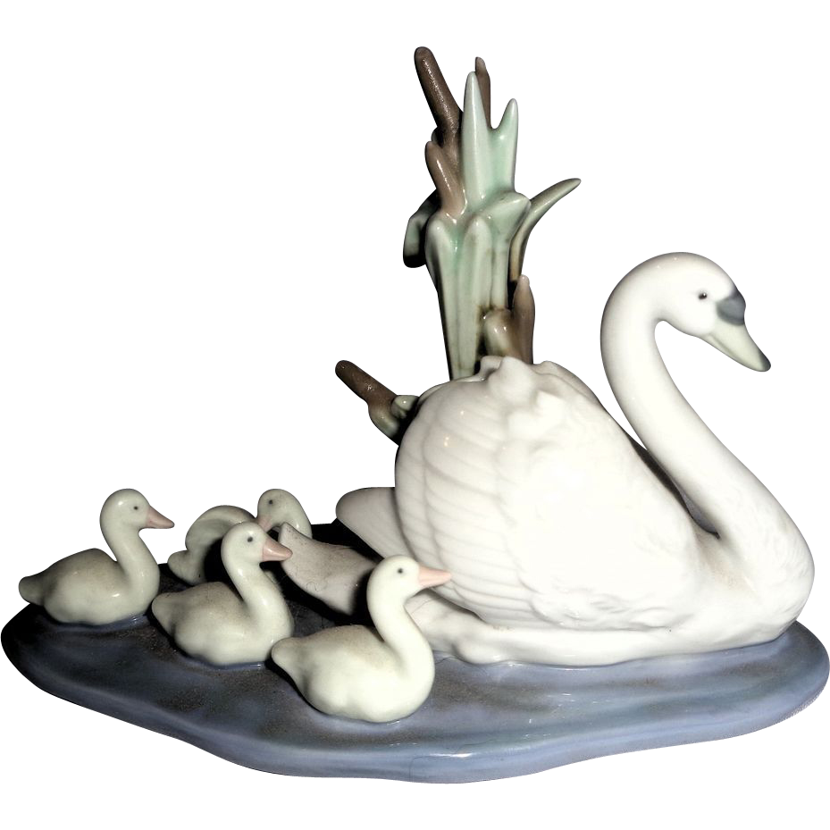 "Charming Lladro Porcelain Sculpture ""Follow Me"""