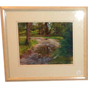 "Original Oil On Canvas ""Woods II"", Signed By Grace Haverty"