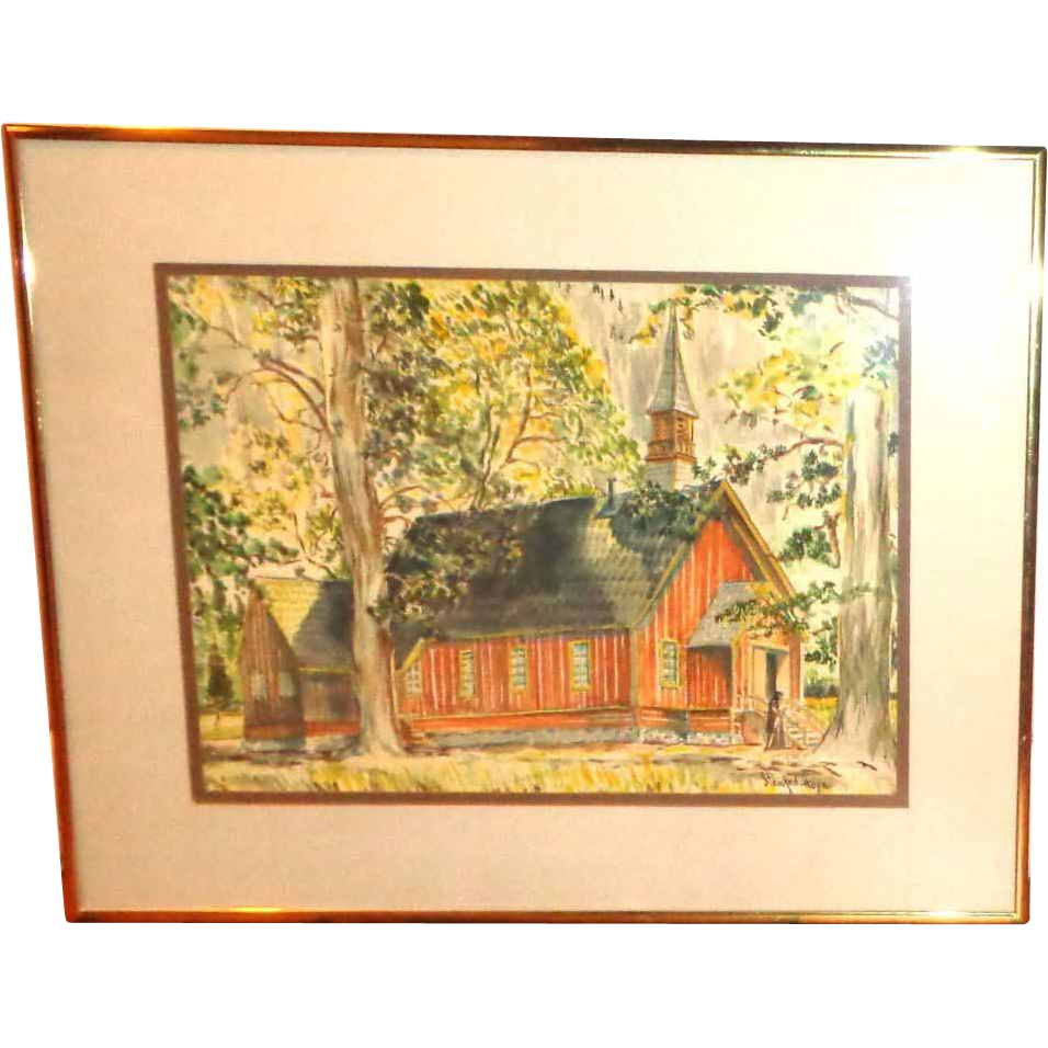 Stanford R. Horn (20th Century) Original Watercolor, Landscape