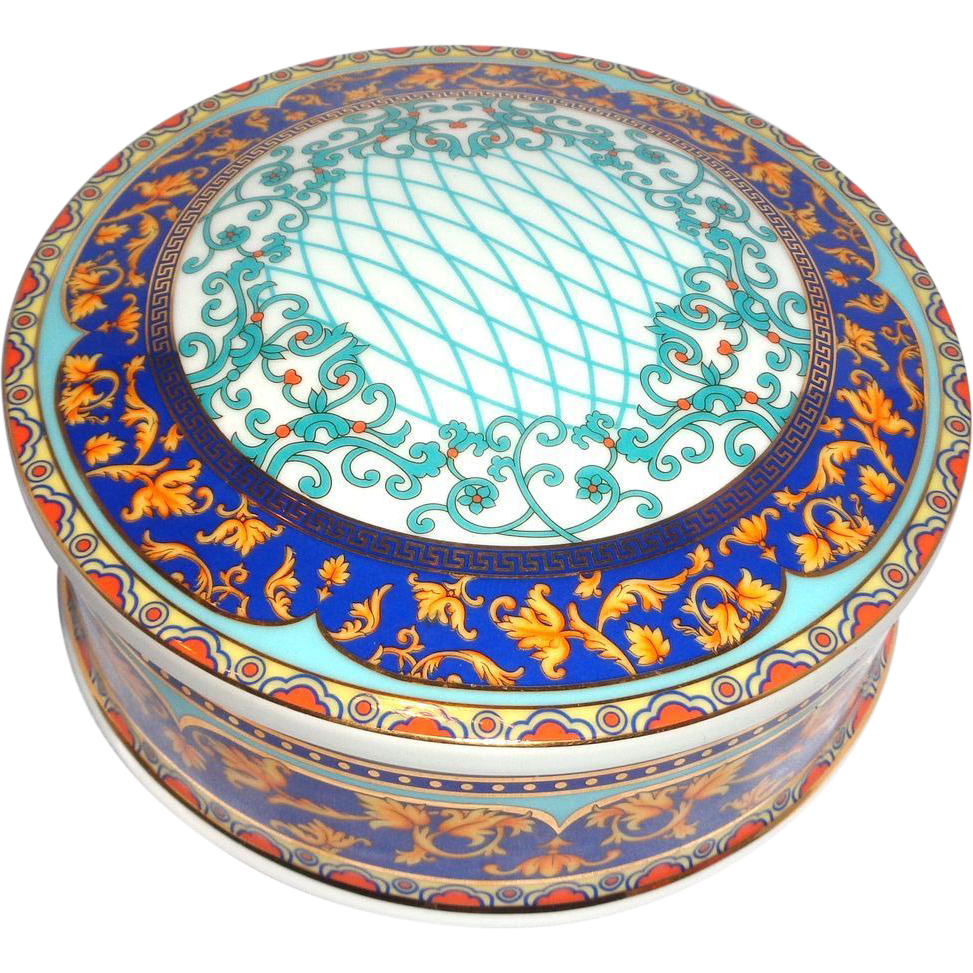 Large and Colorful Lidded Bowl, Signed T. Limoges,  Casa Elite