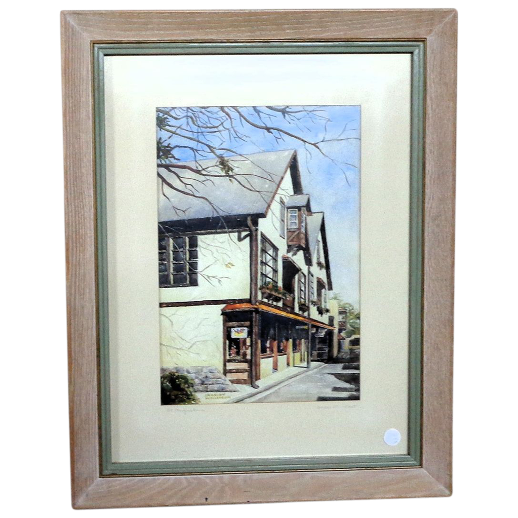"Marian Wallstrom ""St. Augustine Aviles St. East"" Original Watercolor"
