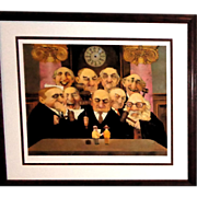 "CHARLES BRAGG ""May It Please The Court""  Signed/Numbered Limited Edition Lithograph - Red Tag Sale Item"
