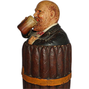Johann Maresch Humidor As A Bundle Of Cigars Tied With A Ribbon, And A Happy Man Drinking A Beer