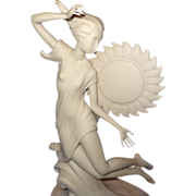 "Original Laszlo Ispanky Large Porcelain Prototype Sculpture for ""Dawn"""