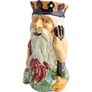 "Staffordshire Very Large Character Jug ""Father Neptune"" Made By Shorter & Son, Stoke-On-Trent, England"