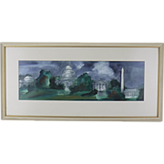 Original Signed Watercolor - Landmarks Of Washington, D.C.