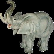CACCIAPUOTI  (1892 - 1953) - Signed Large Porcelain Sculpture Of Elephant, Italy,
