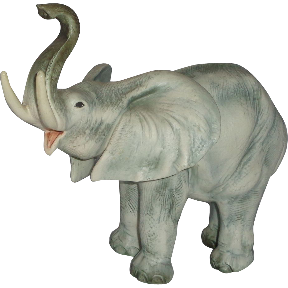 CACCIAPUOTI  (1892 - 1953) - Signed Large Porcelain Sculpture Of Elephant, Italy,