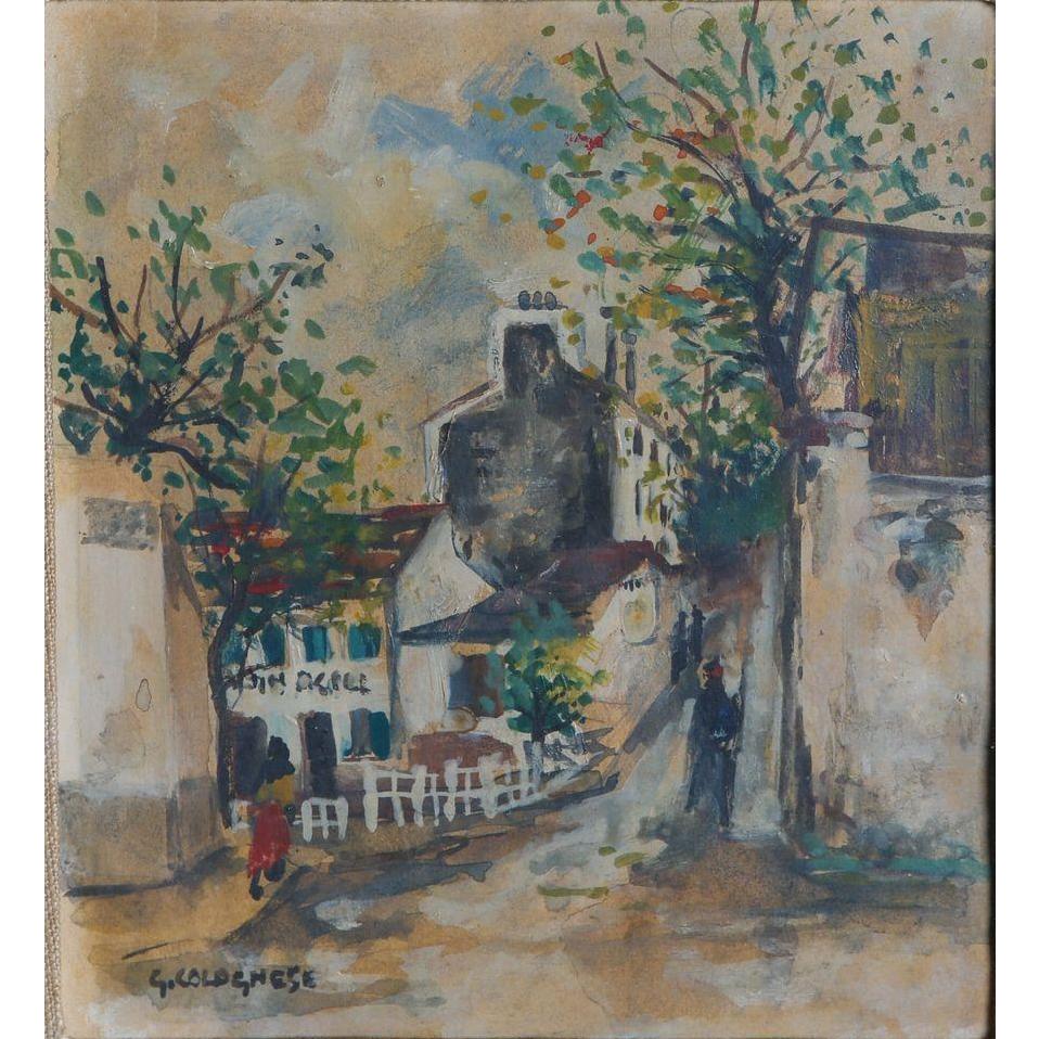 """Giovanni Colognese (Italian b. 1901) """"Rue Des Saules, Monmartre"""""""