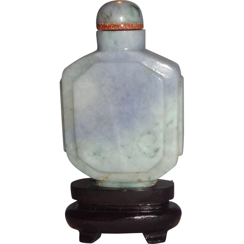 Lavender Jadeite Snuff Bottle,  19th Century, Exquisite