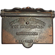 Cast Iron Self-Closing Match Safe, Circa 1864