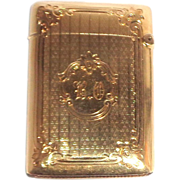 Gorham 14K Gold Match Safe (Vesta), Circa 1910