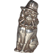 Sterling Silver British Well-Dressed Dog Match Safe (Vesta)