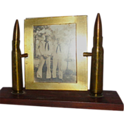 World War II Trench Art Picture Frame With Brass Bullet Shells