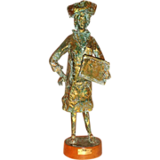 """Big Decision"" Humorous Metal Sculpture Of An Interior Decorator,"