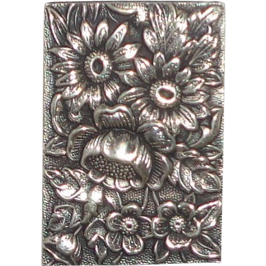 Sterling Silver Kirk and Son Repousse Match Safe (Vesta)