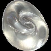 Art Glass Paperweight Signed Iridescent Mollusk Shell