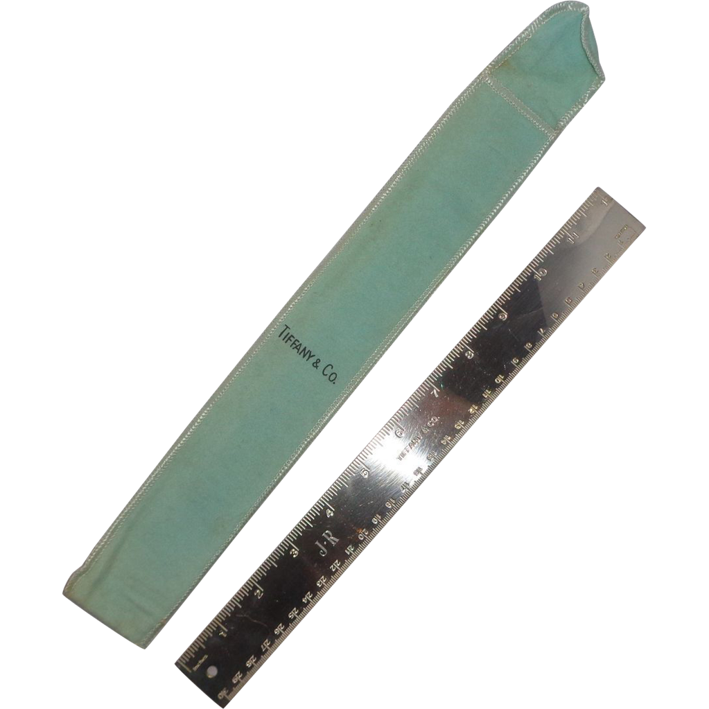 Tiffany & Co. 12 Inch Silver-Plate Ruler With Original Tiffany Bag