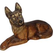 York China German Shepherd Dog Lying Down, Front Legs Crossed, And Very Watchful - Red Tag Sale Item