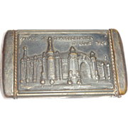 1904 St. Louis World's Fair Palace Of Transportation Match Safe (Vesta)