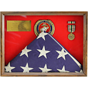 American Flag Flown Over Kuwait City During Liberation Of Kuwait; A Southwest Asia Bronze Service Medal; And A U. S. Marines Bronze Plaque; Feb.28th, 1991