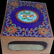 Vintage Cloisonne And Enamel Chinese Match Safe