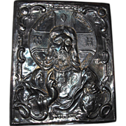 Very Touching Silver Icon, Russian Hallmarks, .825 Silver