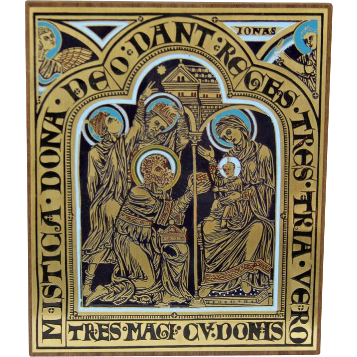 Vintage Religious Icon Plaque