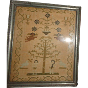"""Circa 1815 Sampler """"The Fall And Redemption of Man"""" From The Collection Of J. L. Middleton, The Old Palace, Richmond, Surrey, England"""